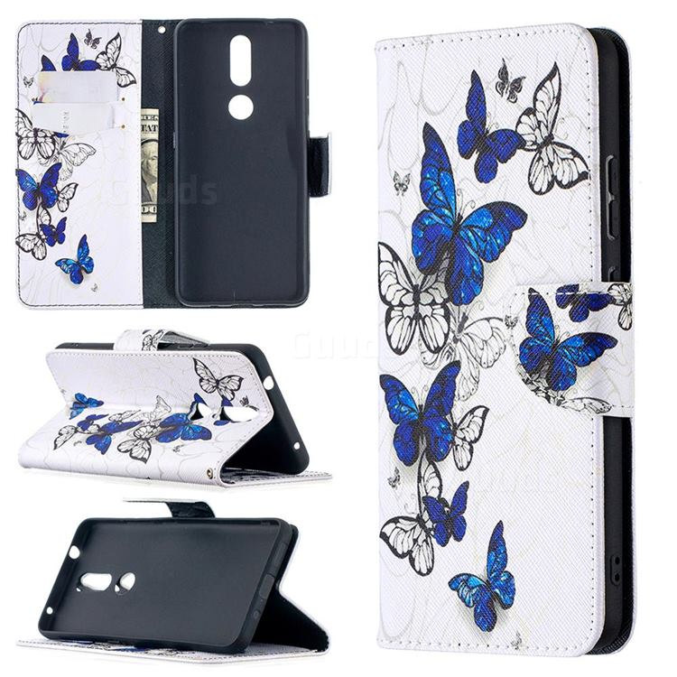 Flying Butterflies Leather Wallet Case for Nokia 2.4