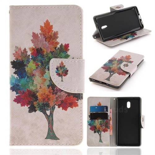 Colored Tree PU Leather Wallet Case for Nokia 3 Nokia3