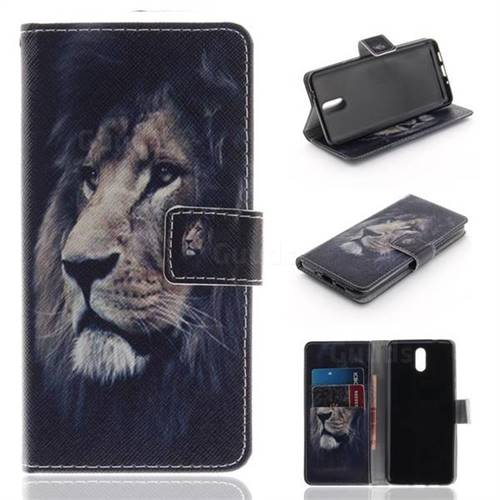 Lion Face PU Leather Wallet Case for Nokia 3.1