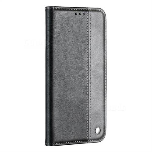 new product 7e375 83f5f Classic Business Ultra Slim Magnetic Sucking Stitching Flip Cover for Nokia  3.1 - Silver Gray