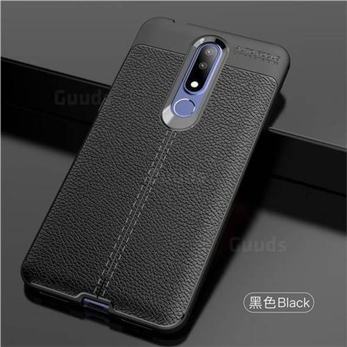 newest collection 34c55 b5aad Luxury Auto Focus Litchi Texture Silicone TPU Back Cover for Nokia 3.1 Plus  - Black