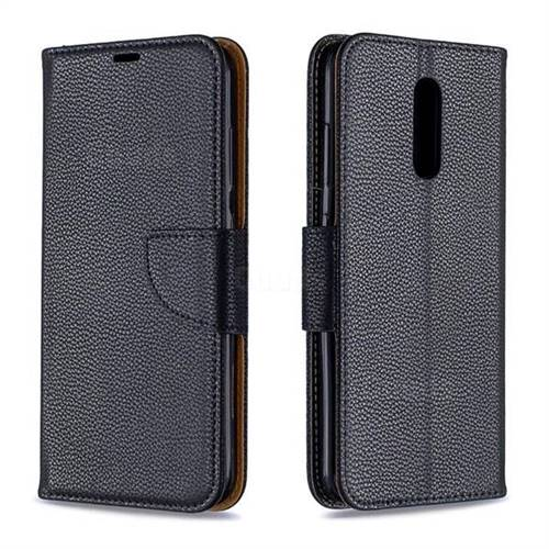 Classic Luxury Litchi Leather Phone Wallet Case for Nokia 3.2 - Black
