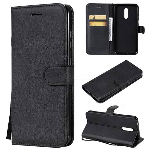 Retro Greek Classic Smooth PU Leather Wallet Phone Case for Nokia 3.2 - Black