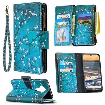 Blue Plum Binfen Color BF03 Retro Zipper Leather Wallet Phone Case for Nokia 5.3