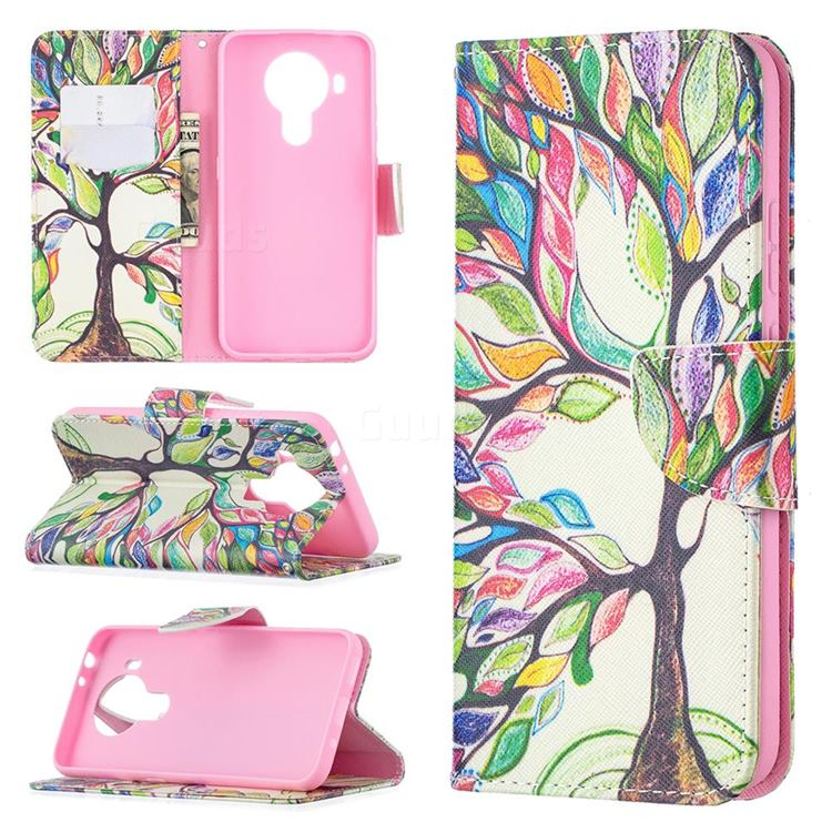 The Tree of Life Leather Wallet Case for Nokia 5.4