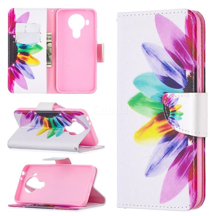 Seven-color Flowers Leather Wallet Case for Nokia 5.4