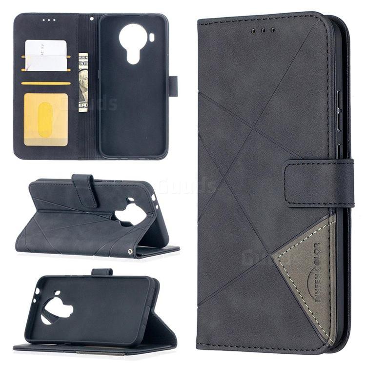 Binfen Color BF05 Prismatic Slim Wallet Flip Cover for Nokia 5.4 - Black