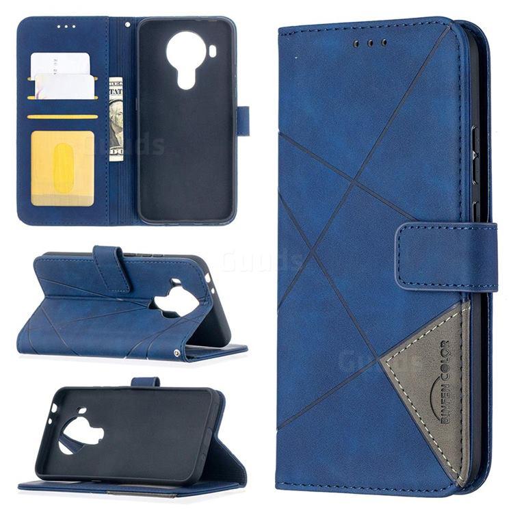 Binfen Color BF05 Prismatic Slim Wallet Flip Cover for Nokia 5.4 - Blue