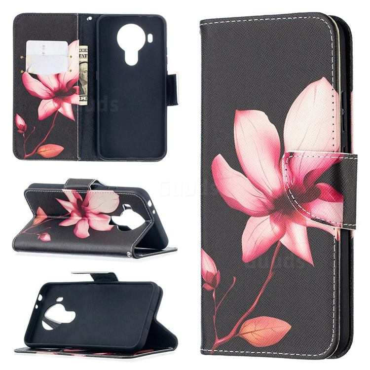 Lotus Flower Leather Wallet Case for Nokia 5.4
