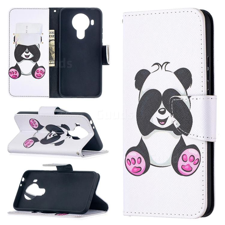 Lovely Panda Leather Wallet Case for Nokia 5.4