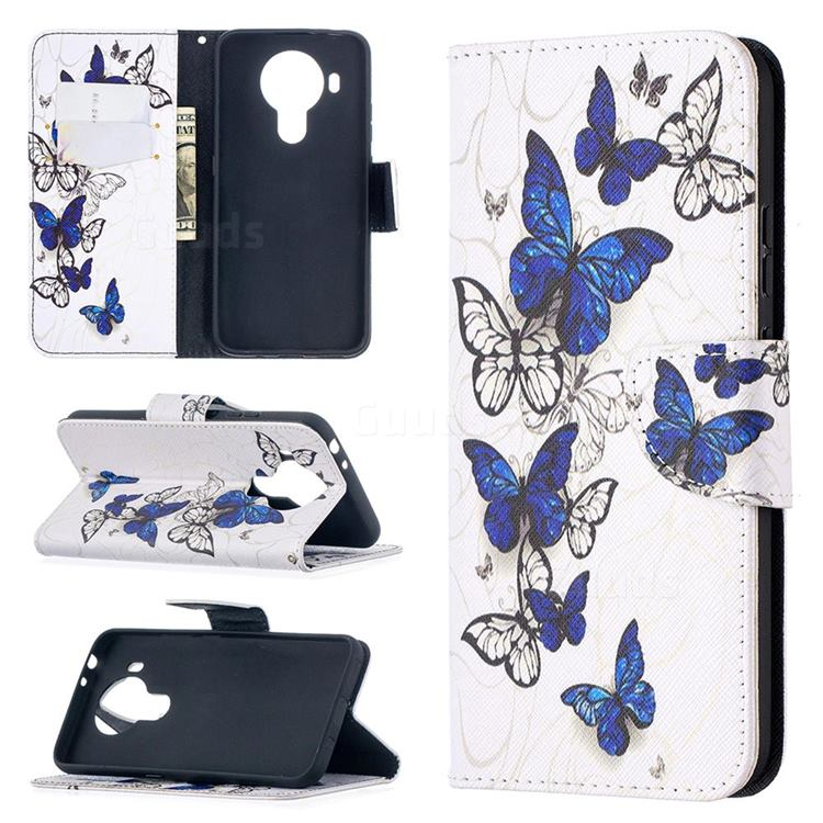 Flying Butterflies Leather Wallet Case for Nokia 5.4