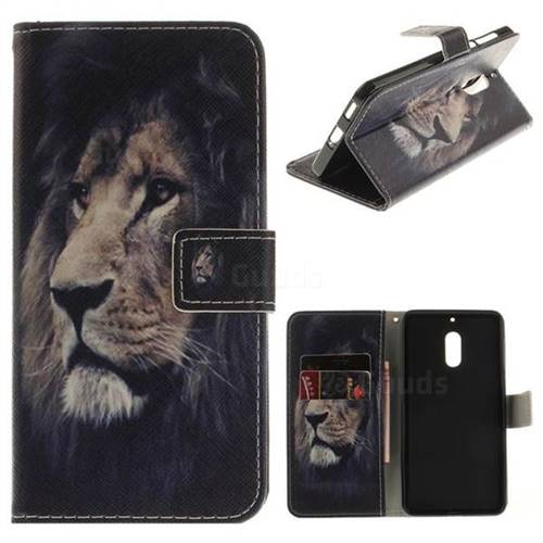 Lion Face PU Leather Wallet Case for Nokia 6 Nokia6