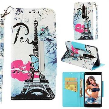 Lip Tower Big Metal Buckle PU Leather Wallet Phone Case for Nokia 6.1