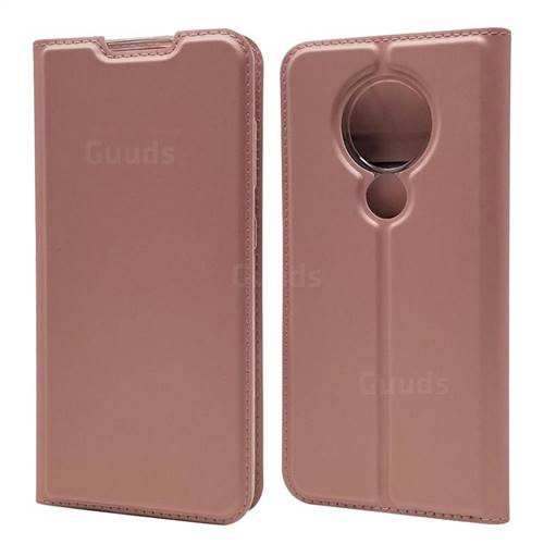 Ultra Slim Card Magnetic Automatic Suction Leather Wallet Case for Nokia 7.2 - Rose Gold