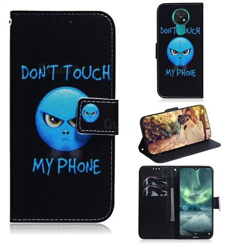 Not Touch My Phone PU Leather Wallet Case for Nokia 7.2