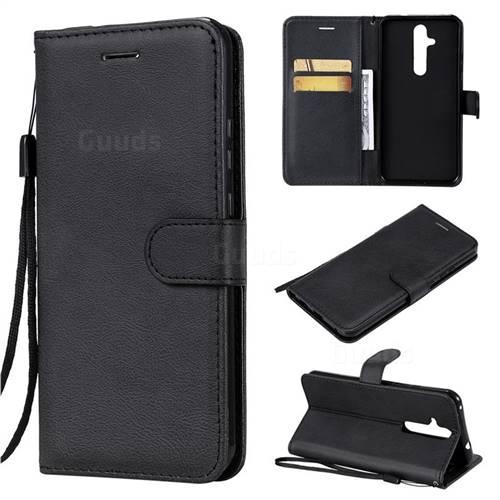 Retro Greek Classic Smooth PU Leather Wallet Phone Case for Nokia 8.1 Plus (Nokia X71) - Black