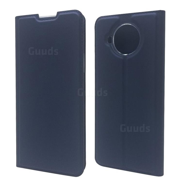 Ultra Slim Card Magnetic Automatic Suction Leather Wallet Case for Nokia 8.3 - Royal Blue