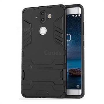 meet 4b740 7b5ab Armor Premium Tactical Grip Kickstand Shockproof Dual Layer Rugged Hard  Cover for Nokia 8 Sirocco - Black