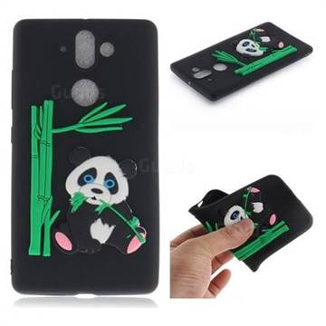 Panda Eating Bamboo Soft 3D Silicone Case for Nokia 9 - Black