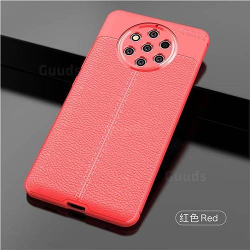 sale retailer 82998 22f6a Luxury Auto Focus Litchi Texture Silicone TPU Back Cover for Nokia 9  PureView - Red