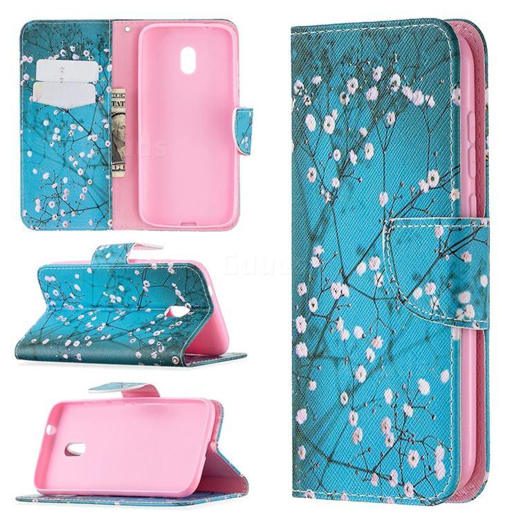 Blue Plum Leather Wallet Case for Nokia C1 Plus