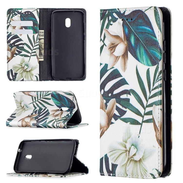 Flower Leaf Slim Magnetic Attraction Wallet Flip Cover for Nokia C1 Plus