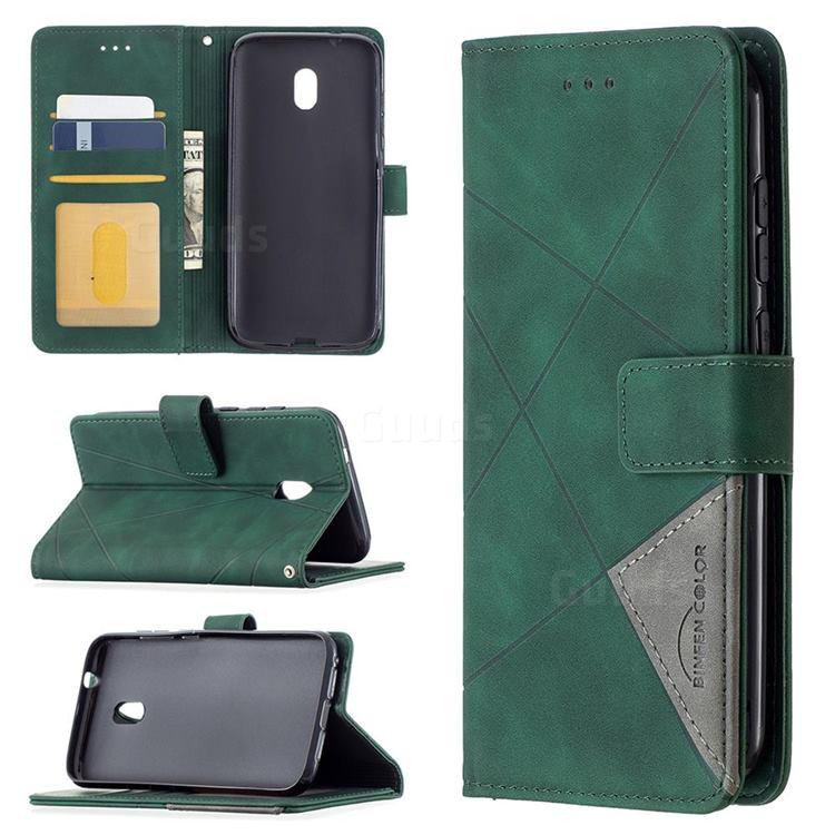 Binfen Color BF05 Prismatic Slim Wallet Flip Cover for Nokia C1 Plus - Green