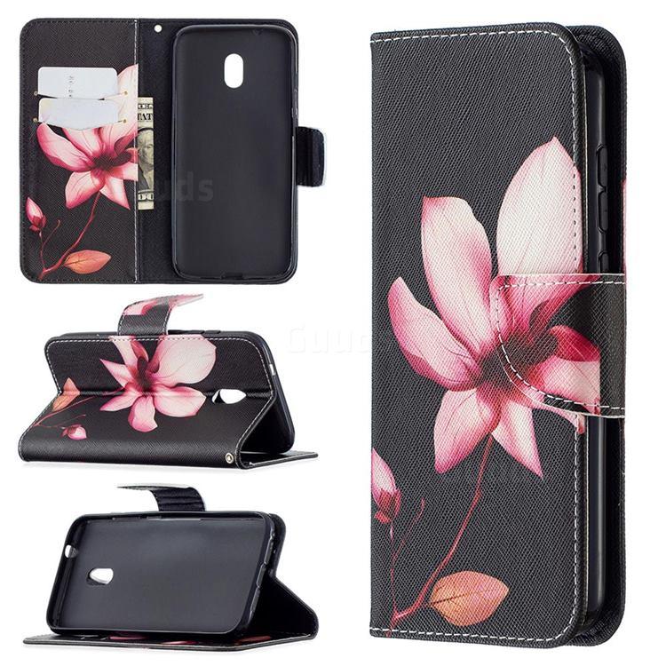 Lotus Flower Leather Wallet Case for Nokia C1 Plus
