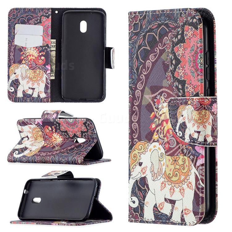 Totem Flower Elephant Leather Wallet Case for Nokia C1 Plus