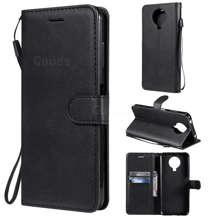Retro Greek Classic Smooth PU Leather Wallet Phone Case for Nokia G20 - Black