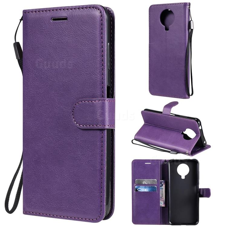 Retro Greek Classic Smooth PU Leather Wallet Phone Case for Nokia G20 - Purple