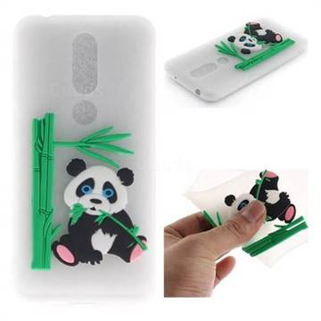 best sneakers 684c9 3ae2a Panda Eating Bamboo Soft 3D Silicone Case for Nokia 6.1 Plus (Nokia X6) -  Translucent
