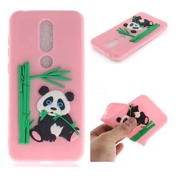 buy popular 282ae 754f0 Panda Eating Bamboo Soft 3D Silicone Case for Nokia 6.1 Plus (Nokia X6) -  Pink