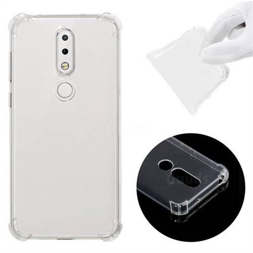 save off dd476 f3180 Anti-fall Clear Soft Back Cover for Nokia 6.1 Plus (Nokia X6) - Transparent
