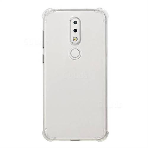 save off a7074 3a85f Anti-fall Clear Soft Back Cover for Nokia 6.1 Plus (Nokia X6) - Transparent