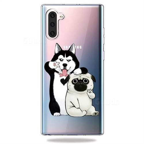 Selfie Dog Clear Varnish Soft Phone Back Cover for Samsung Galaxy Note 10 (6.28 inch) / Note10 5G