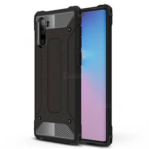 King Kong Armor Premium Shockproof Dual Layer Rugged Hard Cover for Samsung Galaxy Note 10 (6.28 inch) / Note10 5G - Black Gold
