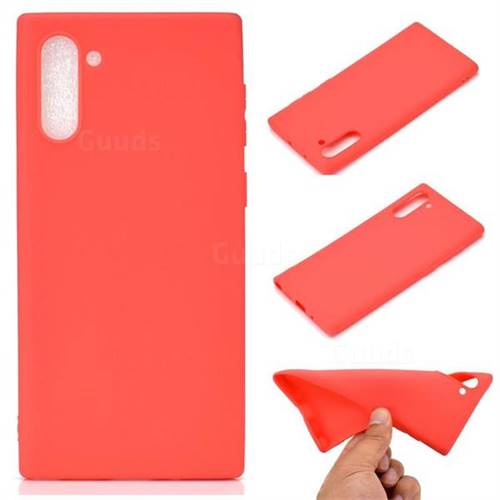 Candy Soft TPU Back Cover for Samsung Galaxy Note 10 (6.28 inch) / Note10 5G - Red