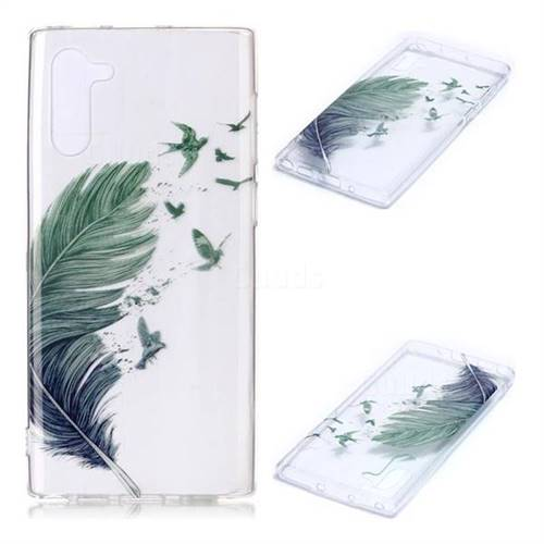 Bird Feathers Super Clear Soft TPU Back Cover for Samsung Galaxy Note 10 (6.28 inch) / Note10 5G