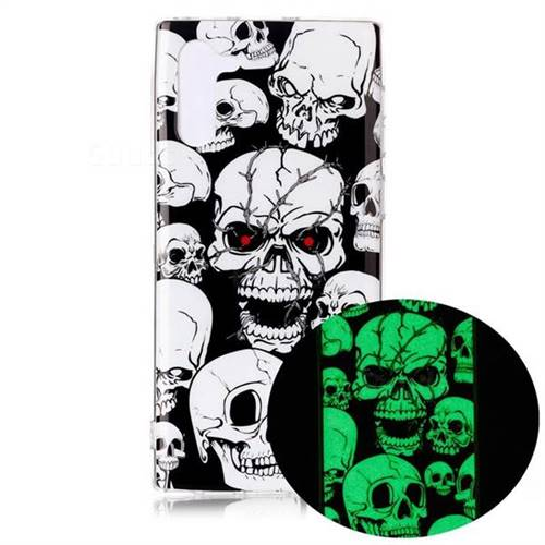 Red-eye Ghost Skull Noctilucent Soft TPU Back Cover for Samsung Galaxy Note 10 (6.28 inch) / Note10 5G