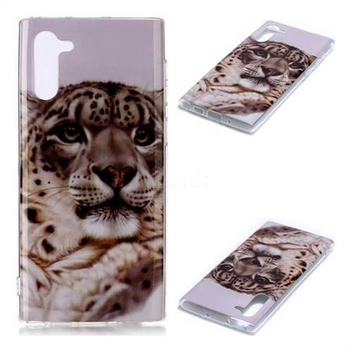 White Leopard Soft TPU Cell Phone Back Cover for Samsung Galaxy Note 10 (6.28 inch) / Note10 5G