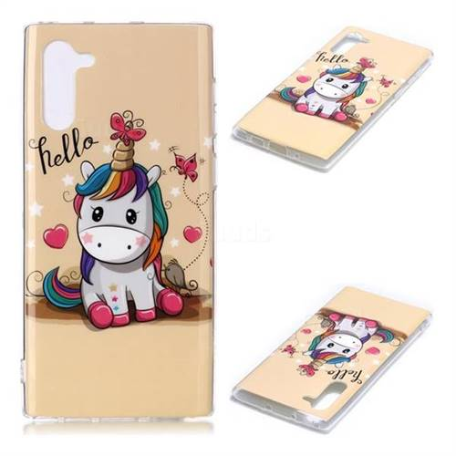 Hello Unicorn Soft TPU Cell Phone Back Cover for Samsung Galaxy Note 10 (6.28 inch) / Note10 5G