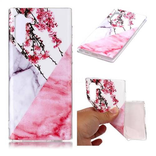 Pink Plum Soft TPU Marble Pattern Case for Samsung Galaxy Note 10 (6.28 inch) / Note10 5G