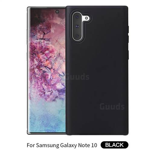 Howmak Slim Liquid Silicone Rubber Shockproof Phone Case Cover for Samsung Galaxy Note 10 (6.28 inch) - Black