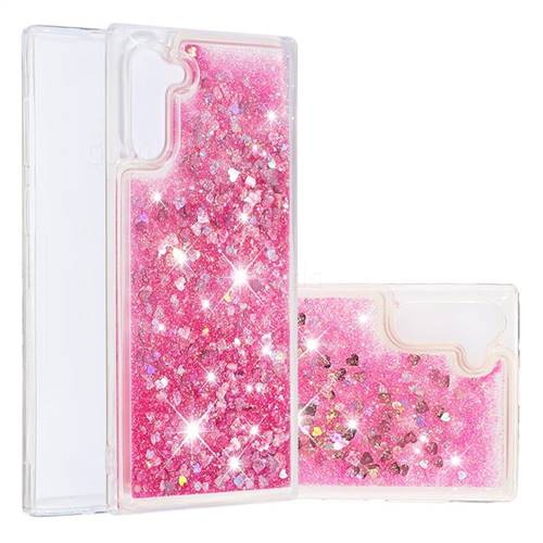 Dynamic Liquid Glitter Quicksand Sequins TPU Phone Case for Samsung Galaxy Note 10 (6.28 inch) / Note10 5G - Rose