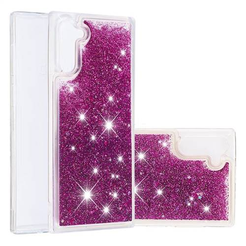 Dynamic Liquid Glitter Quicksand Sequins TPU Phone Case for Samsung Galaxy Note 10 (6.28 inch) / Note10 5G - Purple