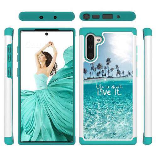 Sea and Tree Shock Absorbing Hybrid Defender Rugged Phone Case Cover for Samsung Galaxy Note 10 (6.28 inch) / Note10 5G
