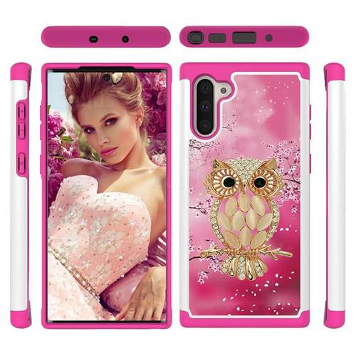 Seashell Cat Shock Absorbing Hybrid Defender Rugged Phone Case Cover for Samsung Galaxy Note 10 (6.28 inch) / Note10 5G