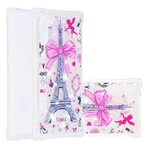 Mirror and Tower Dynamic Liquid Glitter Sand Quicksand Star TPU Case for Samsung Galaxy Note 10 (6.28 inch) / Note10 5G