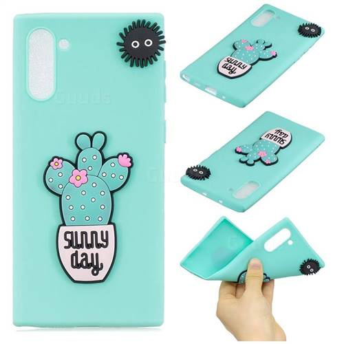 Cactus Flower Soft 3D Silicone Case for Samsung Galaxy Note 10 (6.28 inch)
